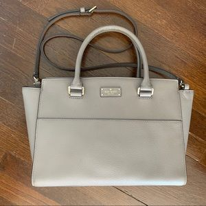 Kate Spade Satchel / Crossbody grey leather purse